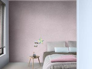 Nowości 2019 - Mała biała różowa sypialnia małżeńska, styl minimalistyczny - zdjęcie od Dulux