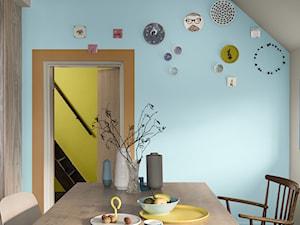 Kolor Roku 2019 - Średnia zamknięta niebieska szara pomarańczowa jadalnia jako osobne pomieszczenie, styl eklektyczny - zdjęcie od Dulux