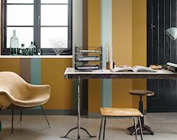 Colour Futures 2016 - Średnie niebieskie brązowe żółte biuro kącik do pracy w pokoju - zdjęcie od Dulux