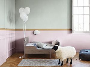 Nowości 2019 - Średni różowy zielony pokój dziecka dla chłopca dla dziewczynki dla malucha, styl minimalistyczny - zdjęcie od Dulux