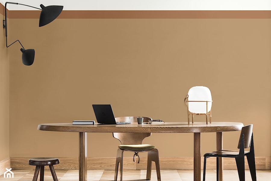Aranżacje wnętrz - Jadalnia: Kolor Roku 2019 - Średnia beżowa jadalnia jako osobne pomieszczenie, styl minimalistyczny - Dulux. Przeglądaj, dodawaj i zapisuj najlepsze zdjęcia, pomysły i inspiracje designerskie. W bazie mamy już prawie milion fotografii!