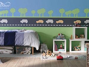 Pokoje dla dzieci i młodzieży - Mały niebieski zielony czarny pokój dziecka dla chłopca dla malucha, styl eklektyczny - zdjęcie od Dulux