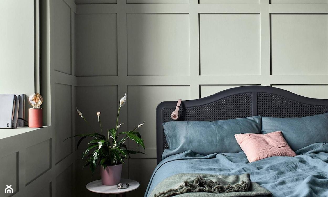 kolor miętowy w sypialni