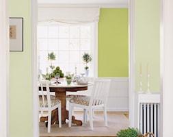 Pokoje dzienne - Średnia otwarta biała żółta jadalnia jako osobne pomieszczenie, styl prowansalski - zdjęcie od Dulux