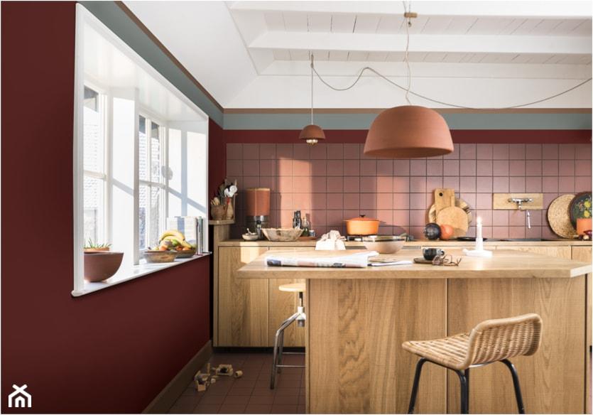 Kolor Roku 2019 średnia Otwarta Pomarańczowa Kuchnia Jednorzędowa