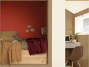 Kolor Roku 2019 - Mały czerwony brązowy pokój dziecka dla chłopca dla dziewczynki dla ucznia dla nastolatka, styl skandynawski - zdjęcie od Dulux