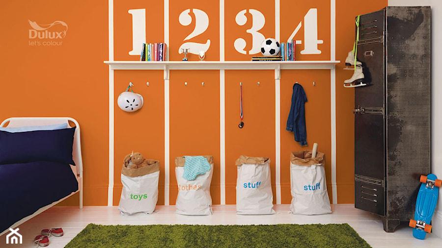 Dulux EasyCare - Średni biały pomarańczowy pokój dziecka dla chłopca dla dziewczynki dla malucha dla nastolatka - zdjęcie od Dulux