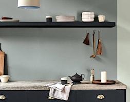 Kolor Roku 2020 - Mała zamknięta biała szara kuchnia jednorzędowa, styl minimalistyczny - zdjęcie od Dulux - Homebook