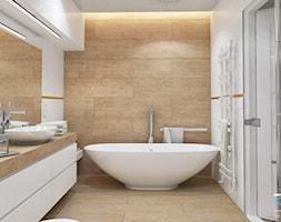 Wnętrze domu w zabudowie szeregowej - Ruda Śląska - Średnia szara łazienka w bloku w domu jednorodzi ... - zdjęcie od RESE Architekci Studio Projektowe - Homebook