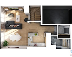 Wnętrze domu w zabudowie szeregowej - Ruda Śląska - Domy, styl nowoczesny - zdjęcie od RESE Architekci Studio Projektowe - Homebook