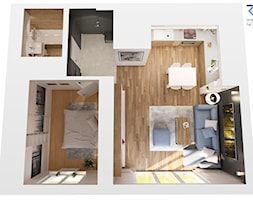 Mieszkanie Katowice osiedle Zielone Panewniki - Mały czarny hol / przedpokój, styl nowoczesny - zdjęcie od RESE Architekci Studio Projektowe - Homebook
