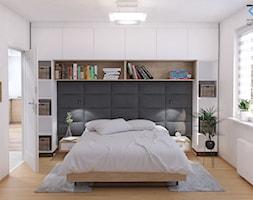Mieszkanie Katowice osiedle Zielone Panewniki - Mała biała sypialnia małżeńska, styl skandynawski - zdjęcie od RESE Architekci Studio Projektowe - Homebook