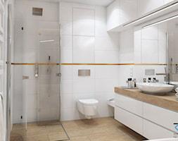 Wnętrze domu w zabudowie szeregowej - Ruda Śląska - Średnia łazienka w bloku w domu jednorodzinnym b ... - zdjęcie od RESE Architekci Studio Projektowe - Homebook