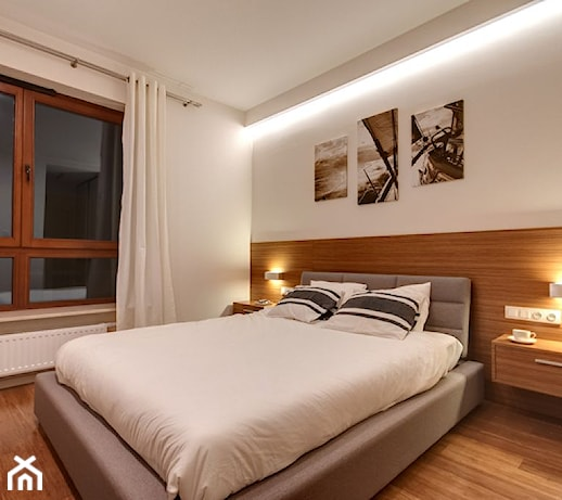 Apartament Z Morzem W Tłe średnia Biała Sypialnia