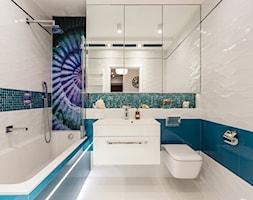 Łazienka z muszlą - Średnia łazienka w bloku w domu jednorodzinnym bez okna, styl nowoczesny - zdjęcie od ARCHITETTO