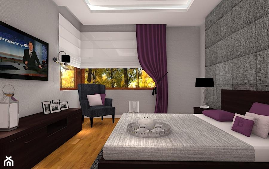 nowoczesne sypialnie w fiolecie najlepsze pomys�y na