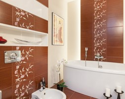 Sypialnia z łazienką - Średnia beżowa czerwona łazienka bez okna, styl klasyczny - zdjęcie od ARCHITETTO