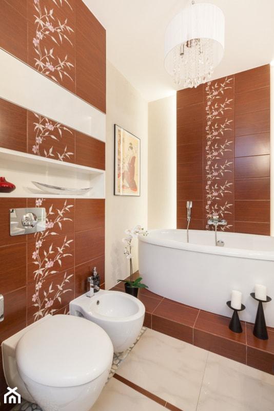 Sypialnia Z łazienką średnia Beżowa Czerwona łazienka Bez