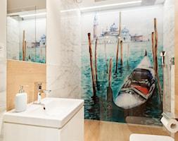 Wnętrza z Wenecją - Mała łazienka w bloku bez okna, styl skandynawski - zdjęcie od ARCHITETTO