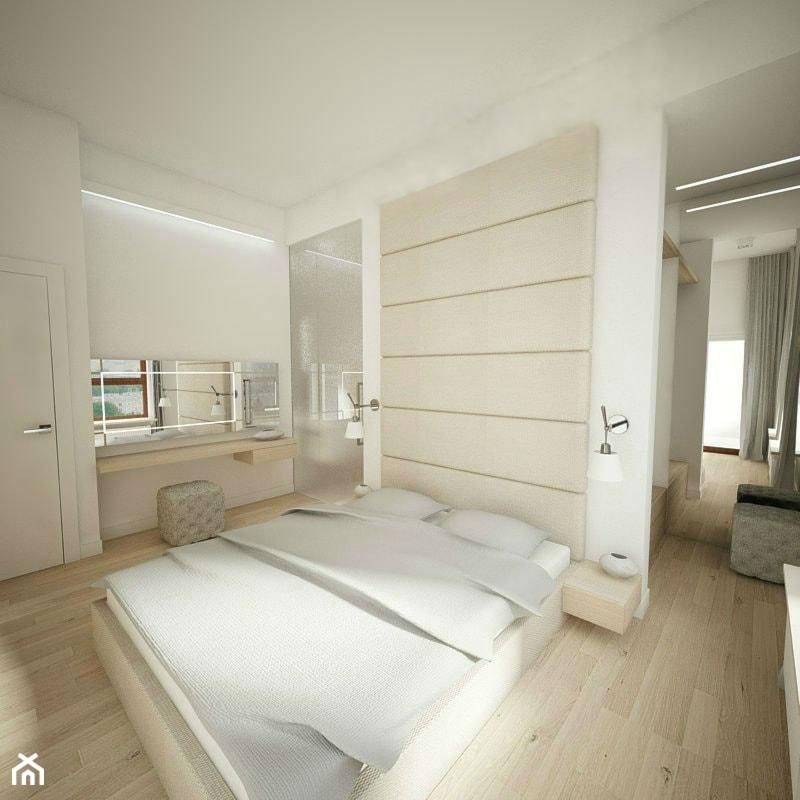 Klasycznie - Średnia biała sypialnia małżeńska, styl nowoczesny - zdjęcie od Nasciturus design - Homebook