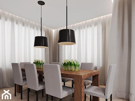 Aranżacje wnętrz - Jadalnia: Dom udomowiony - Średnia otwarta jadalnia w salonie, styl tradycyjny - LIVING BOX. Przeglądaj, dodawaj i zapisuj najlepsze zdjęcia, pomysły i inspiracje designerskie. W bazie mamy już prawie milion fotografii!