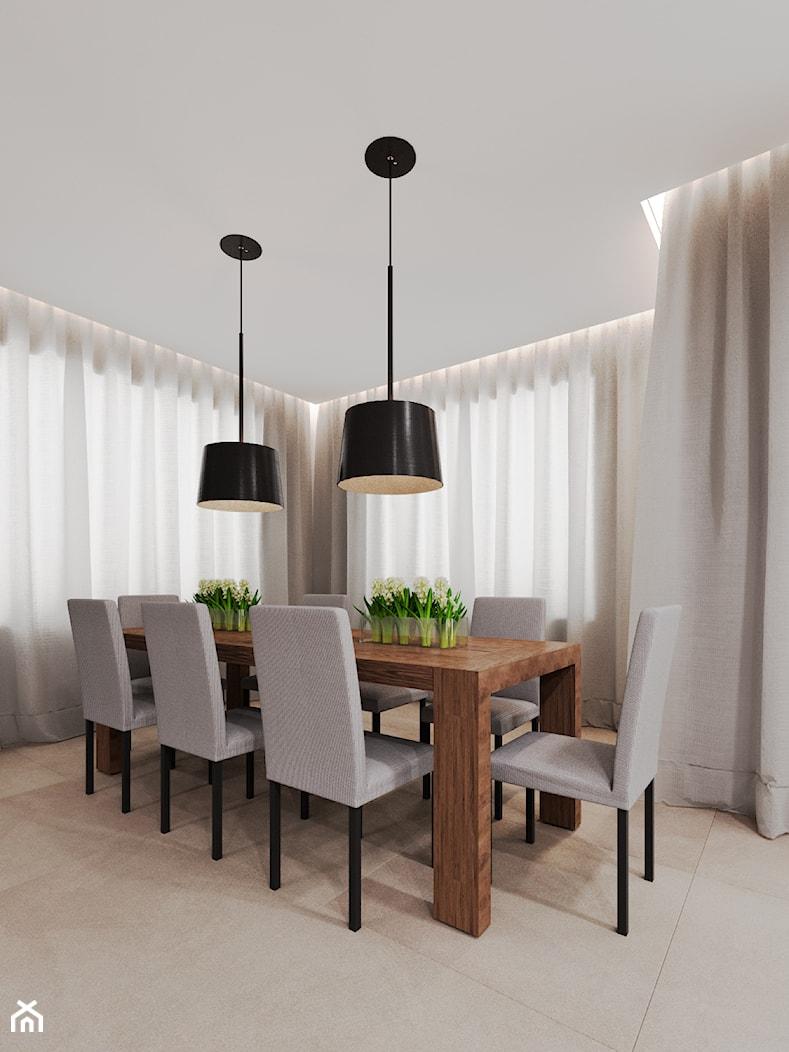 Dom udomowiony - Średnia otwarta jadalnia w salonie, styl tradycyjny - zdjęcie od LIVING BOX - Homebook