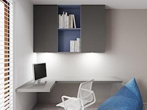 Dom udomowiony - Mały szary pokój dziecka dla chłopca dla dziewczynki dla ucznia dla nastolatka, styl nowoczesny - zdjęcie od LIVING BOX