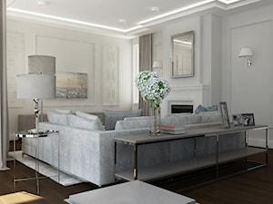 Willa z odrobiną luksusu - Mały szary salon, styl klasyczny - zdjęcie od LIVING BOX
