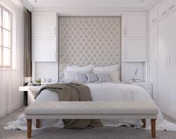 Eklektyczny - Średnia biała sypialnia małżeńska, styl tradycyjny - zdjęcie od LIVING BOX - Homebook