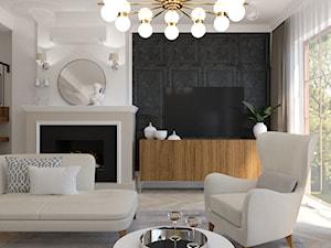 Eklektyczny - Mały szary czarny salon, styl tradycyjny - zdjęcie od LIVING BOX