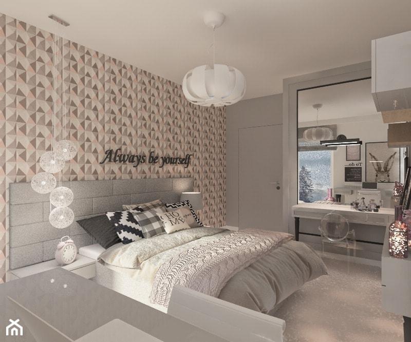 Mieszkanie dla Młodego Piłkarza - Szara sypialnia, styl nowoczesny - zdjęcie od LIVING BOX