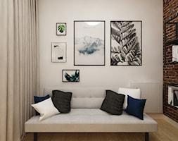 Dla Singielki - Mały szary salon, styl nowoczesny - zdjęcie od LIVING BOX - Homebook
