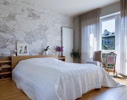 Sypialnia Z Kamieniem Dekoracyjnym Na ścianie Aranżacje