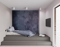 Dom udomowiony - Średni biały szary niebieski pokój dziecka dla chłopca dla dziewczynki dla nastolatka, styl nowoczesny - zdjęcie od LIVING BOX