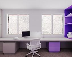 Dom udomowiony - Średnie białe biuro domowe, styl nowoczesny - zdjęcie od LIVING BOX