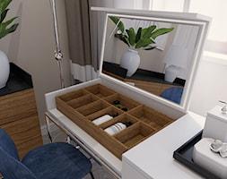 Eklektyczny - Biała szara sypialnia, styl tradycyjny - zdjęcie od LIVING BOX - Homebook