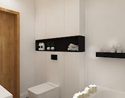 Dla Singielki - Średnia biała czarna łazienka, styl nowoczesny - zdjęcie od LIVING BOX - Homebook
