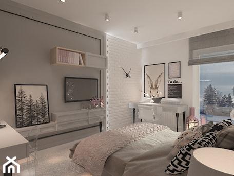 Aranżacje wnętrz - Sypialnia: Mieszkanie dla Młodego Piłkarza - Duża biała szara sypialnia małżeńska, styl nowoczesny - LIVING BOX. Przeglądaj, dodawaj i zapisuj najlepsze zdjęcia, pomysły i inspiracje designerskie. W bazie mamy już prawie milion fotografii!