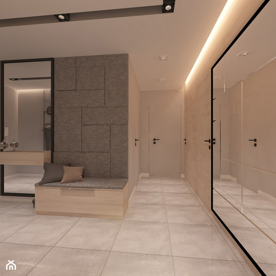 Mieszkanie dla Młodego Piłkarza - Średni beżowy hol / przedpokój, styl nowoczesny - zdjęcie od LIVING BOX