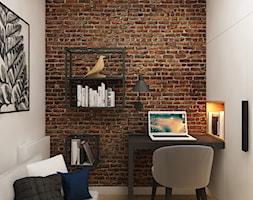Dla Singielki - Mały biały salon, styl nowoczesny - zdjęcie od LIVING BOX - Homebook