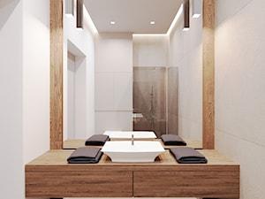 Dom udomowiony - Mała biała łazienka w bloku w domu jednorodzinnym bez okna, styl tradycyjny - zdjęcie od LIVING BOX