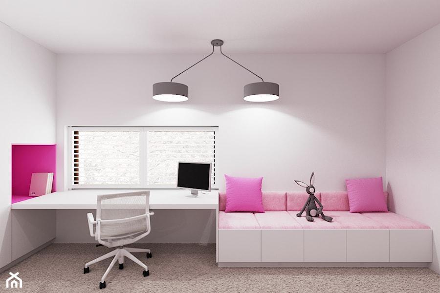 Dom udomowiony - Średni biały pokój dziecka dla dziewczynki dla ucznia dla nastolatka, styl nowoczesny - zdjęcie od LIVING BOX