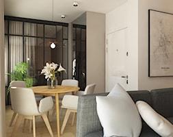 Dla Singielki - Średnia otwarta szara jadalnia w salonie, styl nowoczesny - zdjęcie od LIVING BOX - Homebook