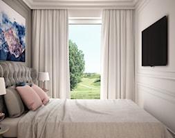 Wakacyjne w Gdyni - Mała szara sypialnia małżeńska, styl glamour - zdjęcie od LIVING BOX - Homebook