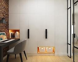 Dla Singielki - Mały biały brązowy salon, styl nowoczesny - zdjęcie od LIVING BOX - Homebook