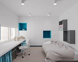 Dom udomowiony - Średni biały pokój dziecka dla chłopca dla nastolatka, styl tradycyjny - zdjęcie od LIVING BOX