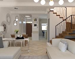 Eklektyczny - Średnia otwarta biała jadalnia w salonie, styl klasyczny - zdjęcie od LIVING BOX - Homebook