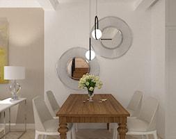 Eklektyczny - Średnia otwarta biała beżowa jadalnia, styl tradycyjny - zdjęcie od LIVING BOX