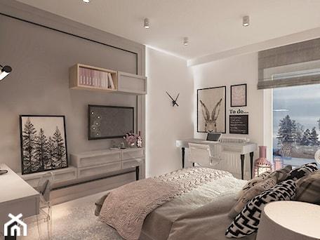 Aranżacje wnętrz - Sypialnia: Mieszkanie dla Młodego Piłkarza - Średnia biała szara sypialnia małżeńska, styl nowoczesny - LIVING BOX. Przeglądaj, dodawaj i zapisuj najlepsze zdjęcia, pomysły i inspiracje designerskie. W bazie mamy już prawie milion fotografii!