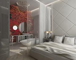 sypialnia śpi z łazienką - zdjęcie od LIVING BOX